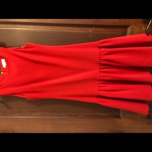 Calvin Klein red professional dress